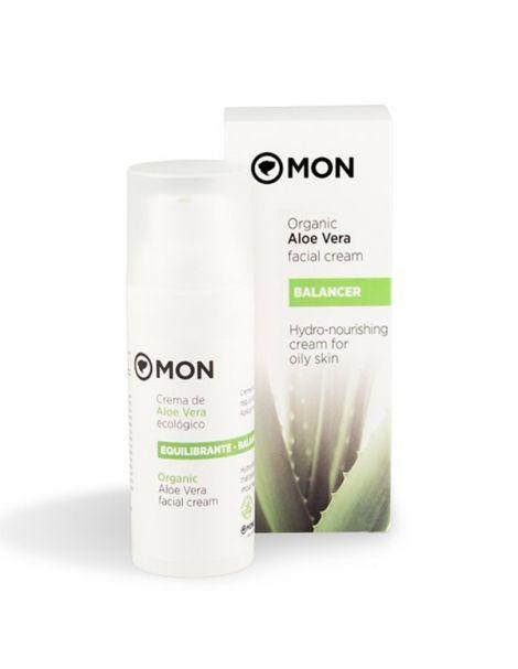 Crema Facial Equilibrante de Aloe Vera Mon - 50 ml.
