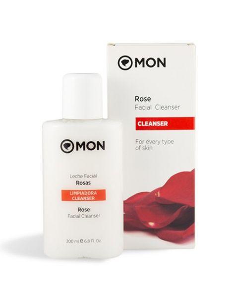Leche Limpiadora Facial de Rosas Mon - 200 ml.