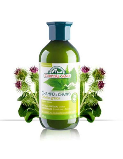 Champú Cabellos Grasos Ortiga y Hamamelis Corpore Sano - 500 ml.