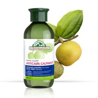 Champú Anticaspa Calmante Zizyphus y Aloe Vera Corpore Sano - 300 ml.