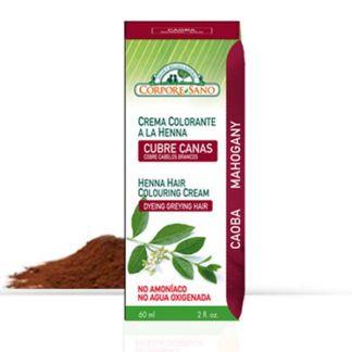 Crema Colorante Henna Caoba Corpore Sano - 60 ml.