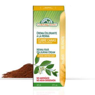 Crema Colorante Henna Rubio Corpore Sano - 60 ml.