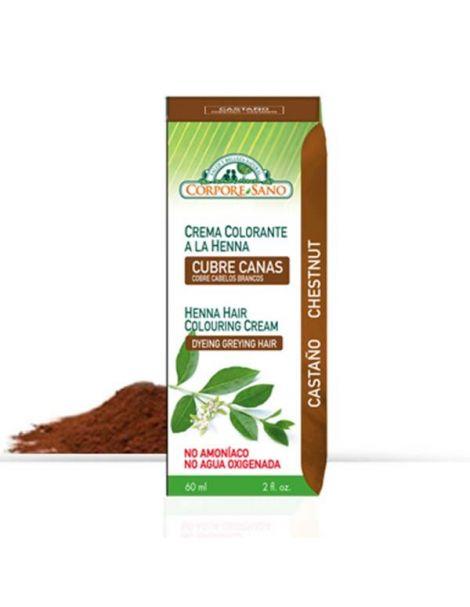Crema Colorante Henna Castaño Corpore Sano - 60 ml.