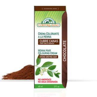 Crema Colorante Henna Chocolate Corpore Sano - 60 ml.