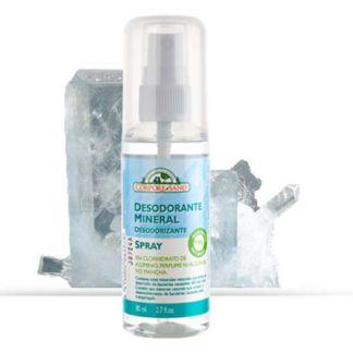 Desodorante Cristal Mineral Spray Corpore Sano - 80 ml.