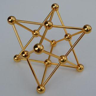 Merkaba de Metal Dorado