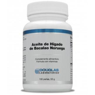 Aceite de Hígado de Bacalao Noruego Douglas - 100 perlas
