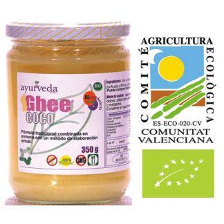 Ghee con Aceite de Coco Bio Ayurveda Auténtico - 350 gramos