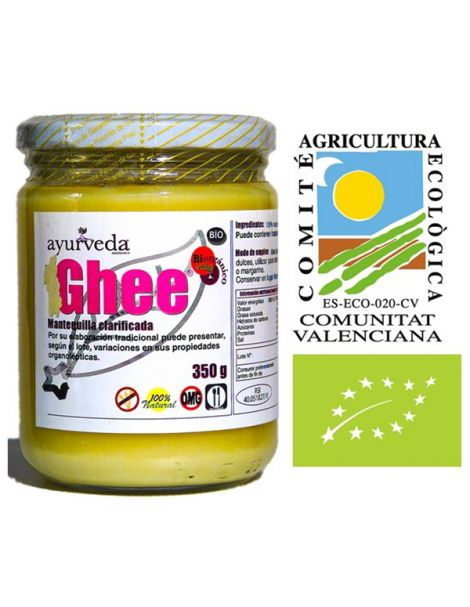 Ghee Mantequilla Clarificada Bio Ayurveda Auténtico - 350 gramos