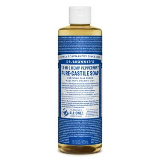 Jabón de Castilla Líquido de Menta Dr. Bronner´s - 59 ml.