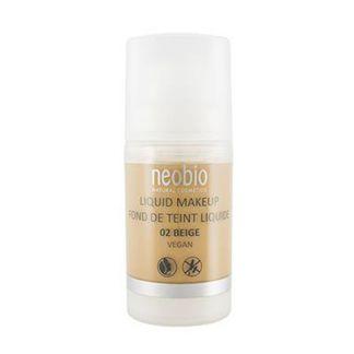 Maquillaje Fluido Beige 02 Neobio - 30 ml.