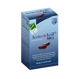 Aceite de Krill NKO Cien por Cien Natural - 80 cápsulas