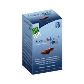Aceite de Krill NKO Cien por Cien Natural - 120 cápsulas
