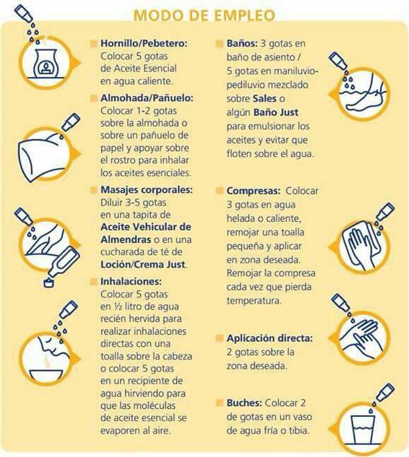 Formas de aplicar los aceites esenciales